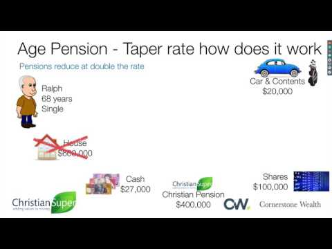 Centrelink Age Pension Asset Test changes 1st January 2017