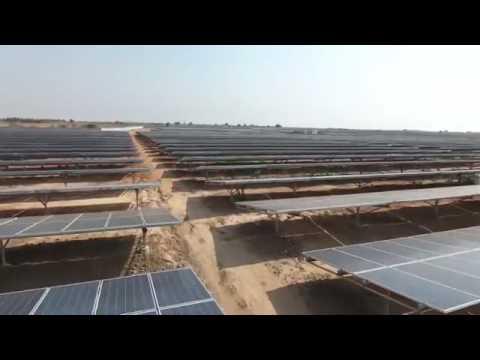 Construction of solar plant