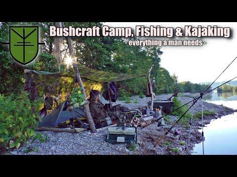 Bushcraft Angeln, Kochen, Camp, Lagerfeuer & Tactical Kajak