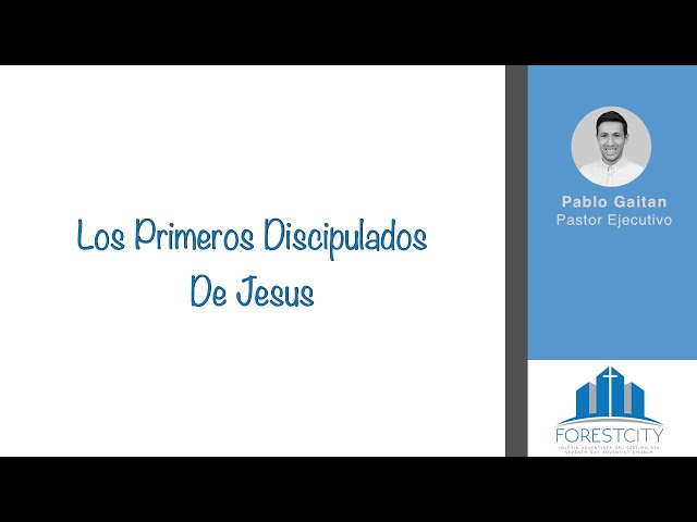3/16/2019 Los Primeros Discipulados De Jesus