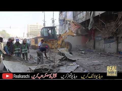 Grand anti-encroachment operation begins in Karachi's Saddar