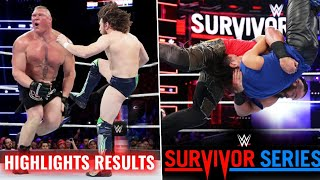 WWE Survivor Series 18 November 2018 Highlights ! Full Results Live Winners Raw Vs Smackdown 2018