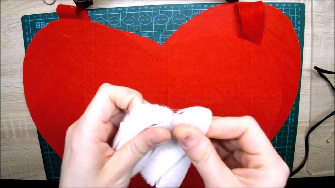 Disfraz de corazón con fieltro || La Casita de Gominolas - YouTube