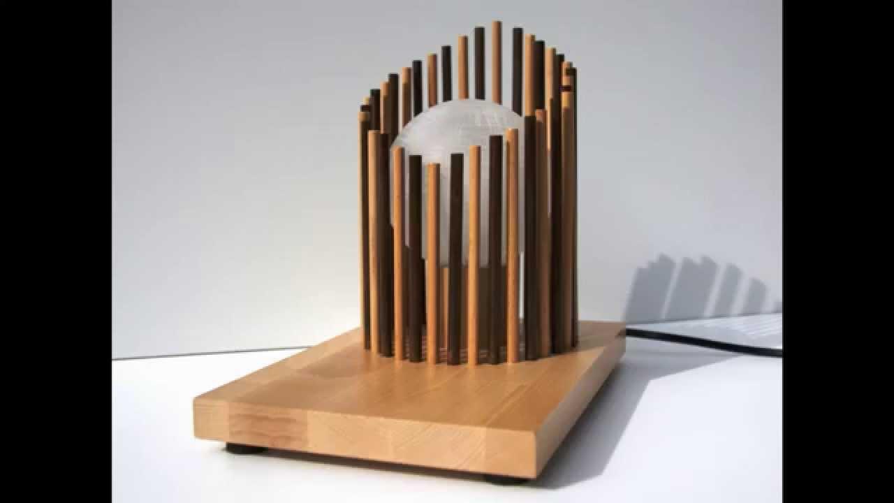 Deck lampada da tavolo artigianale in legno youtube - Lampade da tavolo in legno ...