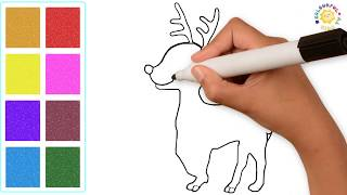 Coloring Pages for Toddlers and Kids Fun Learning To Draw Rudolph The Red Nosed Reindeer