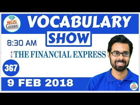 8:30 AM - Financial Express Vocabulary with Tricks (9th Feb, 2018) | Day- 367