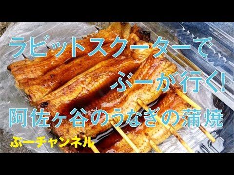 ラビットスクーターでぶーが行く! 阿佐ヶ谷のうなぎの蒲焼 FUJI RABBIT SCOOTER RUN & EAT 【ぶーチャンネル(boo channel)】