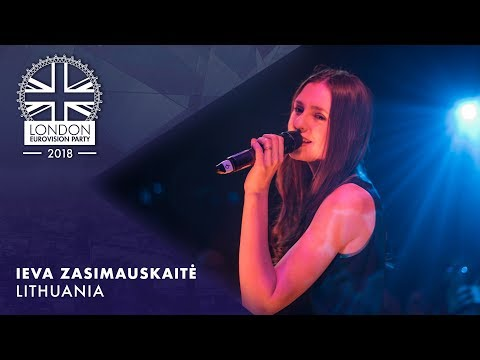 Ieva Zasimauskaitė - When We're Old - Lithuania | LIVE | OFFICIAL | 2018 London Eurovision Party