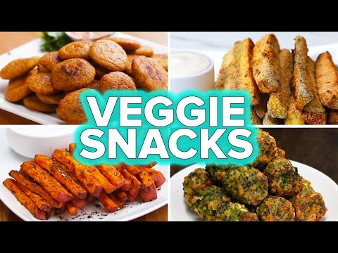 Download Youtube: Veggie Snacks 4 Ways