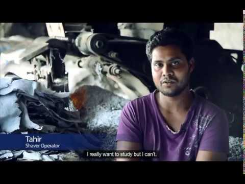 leather working in Pakistan by children who faces to health problems