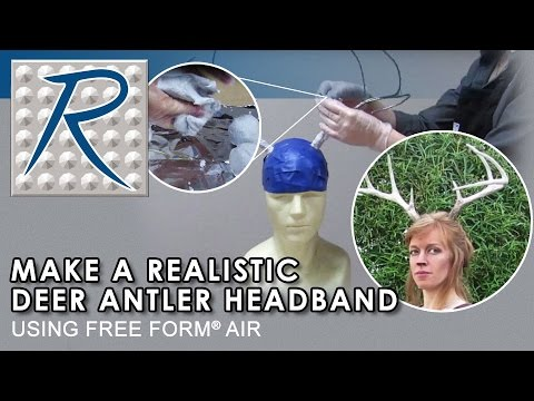 How To Make a Deer Antler Cosplay Headband Using Free Form® AIR ...