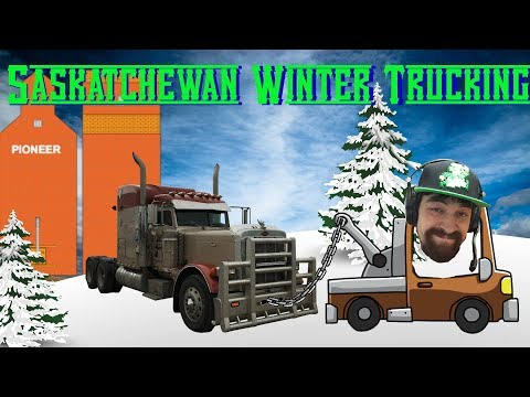 Saskatchewan Winter / Spring Truck Driving, Getting Stuck