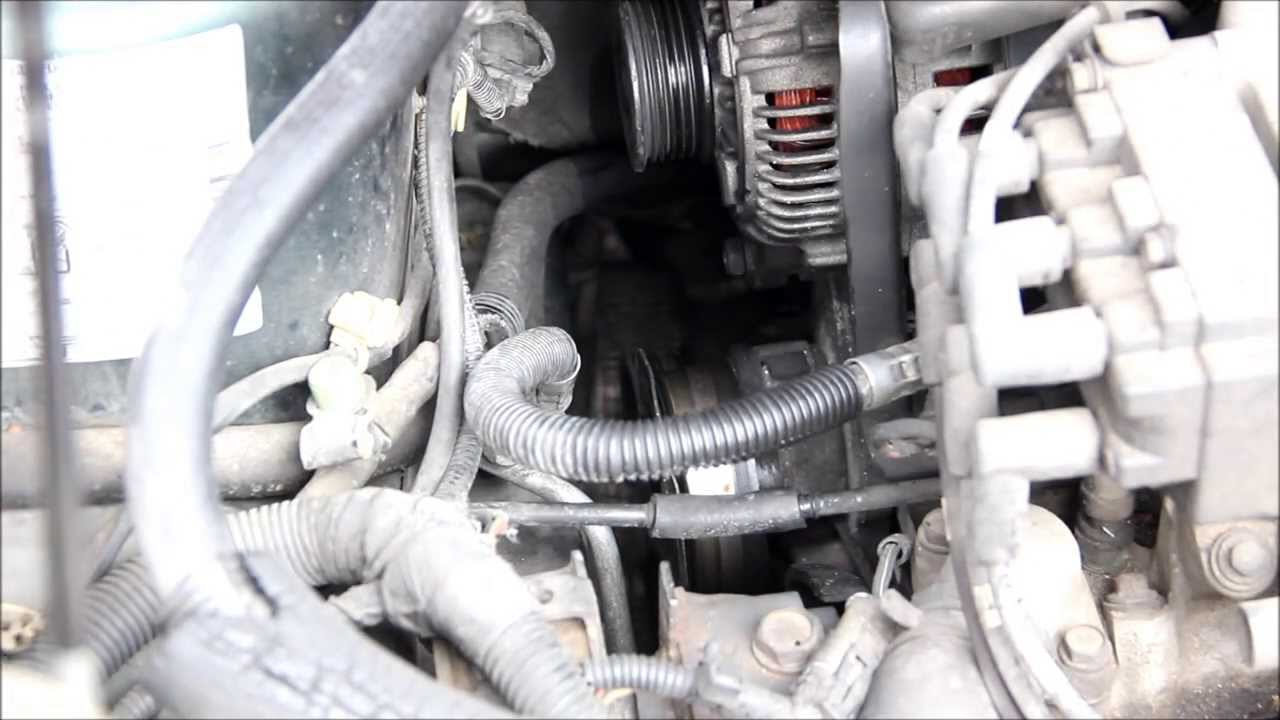 how to change a serpentine belt on a dodge caravan voyager and town country youtube [ 1280 x 720 Pixel ]
