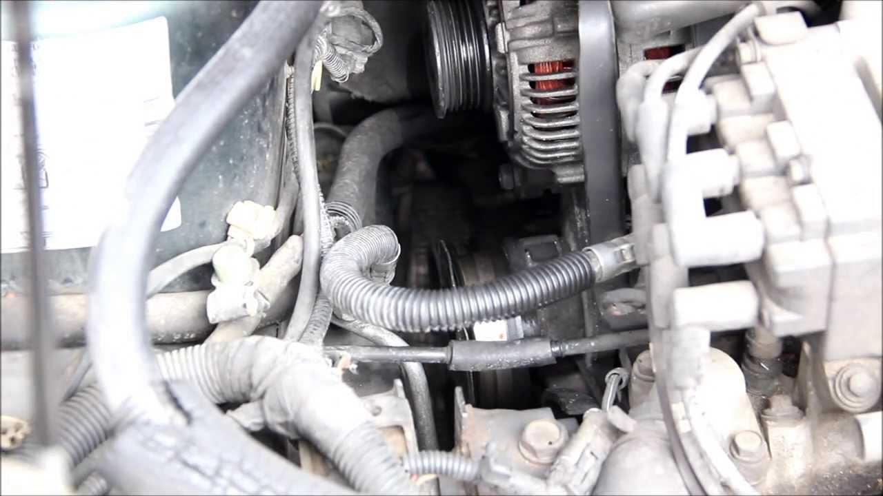How to change a serpentine belt on a Dodge Caravan