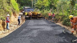 Inició vaciado de asfalto sobre la vía San Esteban – La Cascada