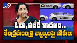 Millennials' preference for Ola, Uber is affecting auto sector : FM Sitharaman - TV9