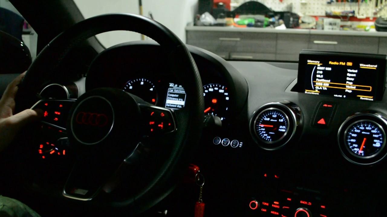Audi A1 retrofit audi tt 8s steering wheel