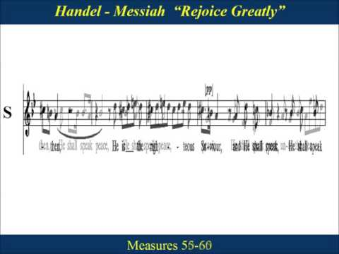 20 - Handel Messiah Part 1 - Rejoice Greatly - Slow Tempo