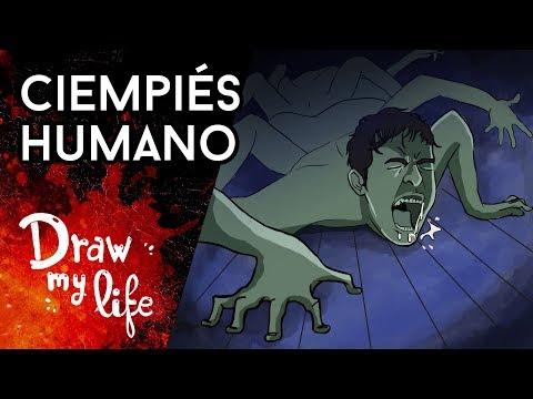 EL CIEMPIÉS HUMANO : un MACABRO EXPERIMENTO  - Draw My Life en Español