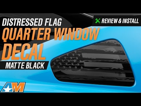 2010-2014 Mustang Distressed Flag Quarter Window Decal Review & Install