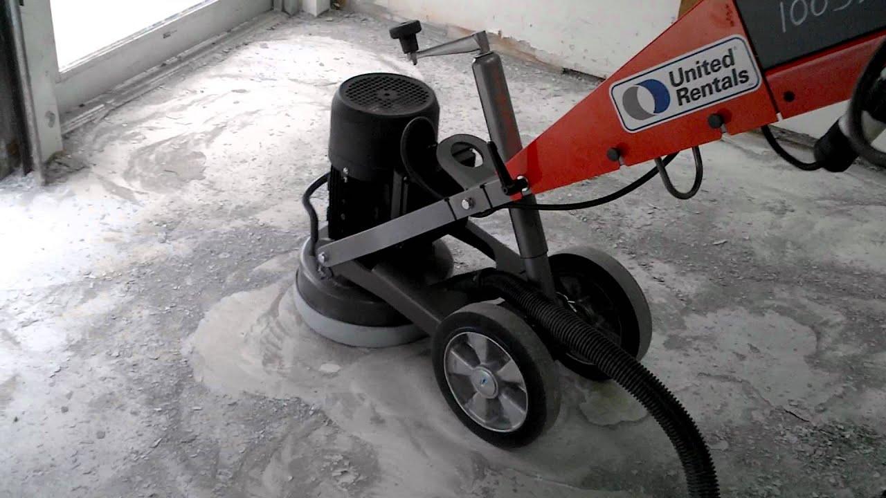 pg280 floor grinder demo - youtube