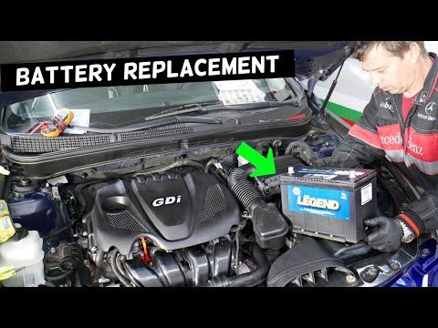 KIA OPTIMA CAR BATTERY REPLACEMENT 2010 2011 2012 2013 2014 2015 2016