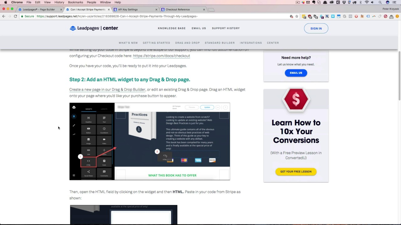 Add Stripe Into Your LeadPage pages - Comprehensive Training