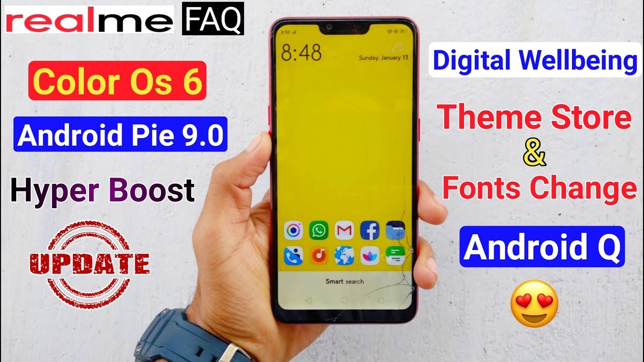RealMe FAQ, Color Os 6 & Pie Update, Theme & Fonts, Digital