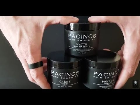 pacinos hair grooming matte pomade creme soin des cheveux homme unboxing youtube. Black Bedroom Furniture Sets. Home Design Ideas