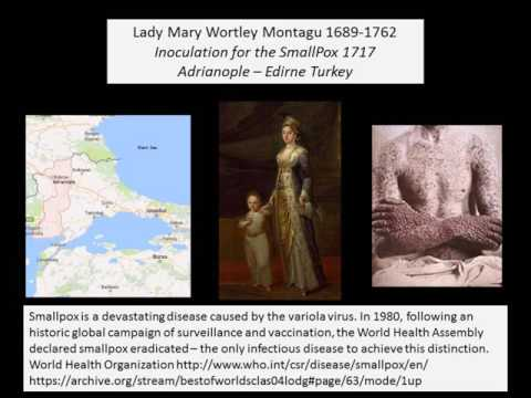 Innoculation for the SmallPox Lady Montagu 1717