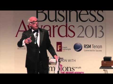 Graham Jolley performs at the Business Awards 2013
