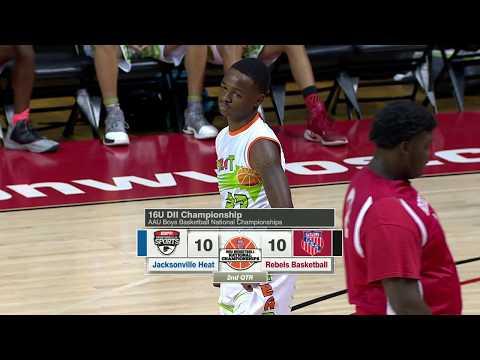 2017 16U DII AAU Boys Basketball Nationals - Jacksonville Heat S (FL) vs. Rebels Basketball (OH)
