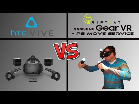 HTC Vive vs. Riftcat/Gear VR and PS Move!! Which is the Best VR System?!