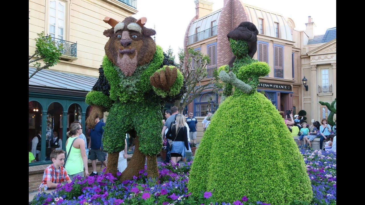 Walking Around Epcot Flower And Garden Festival Walt Disney World Youtube