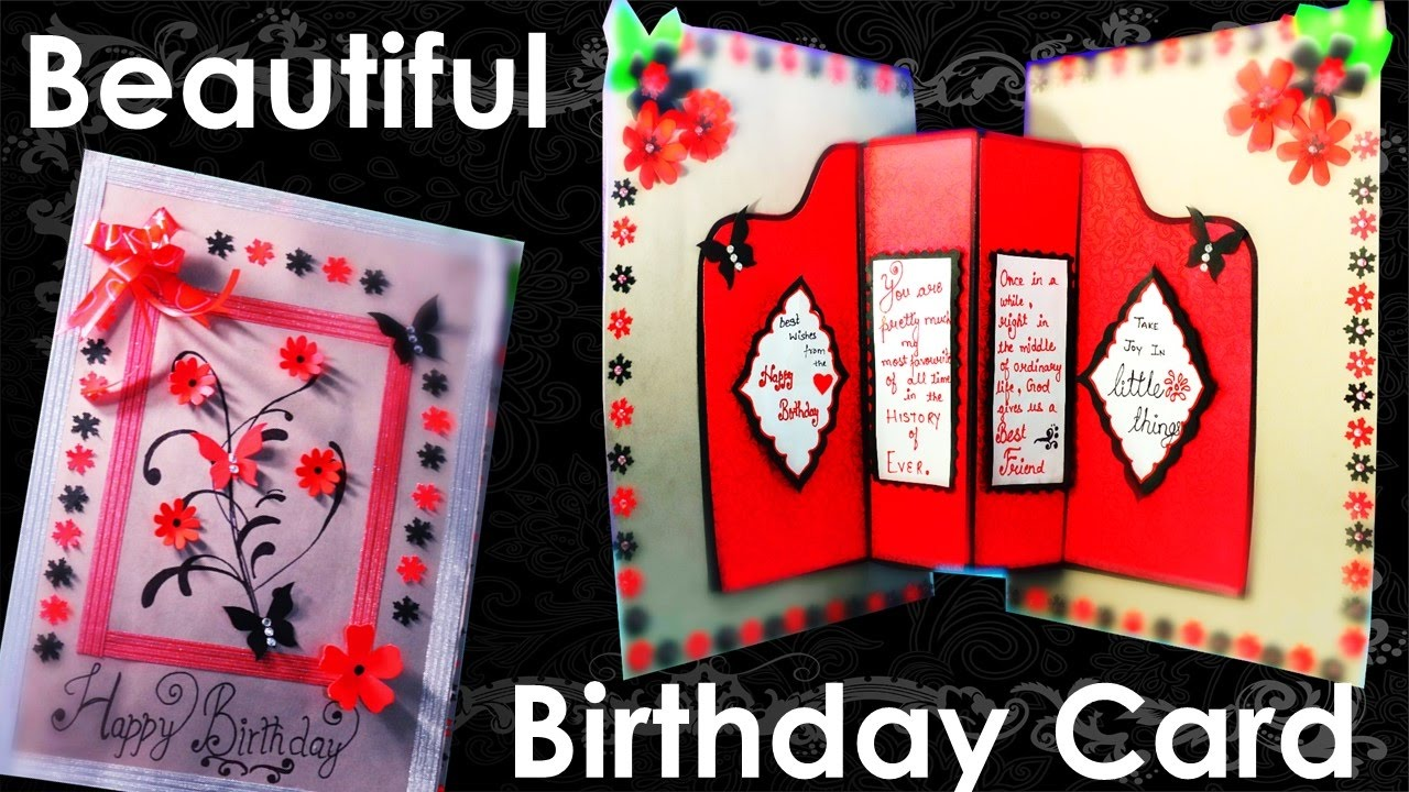 How To Make Giant Beautiful Birthday Card