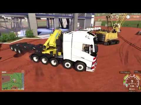 FS19 - Mining & Construction Economy Map - Liebherr HS875HD (crane)