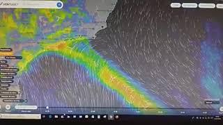 Clima muda muito rápido,  tempestade  de pouca duração .