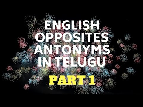 Antonyms And Synonyms List With Telugu Meaning Pdf