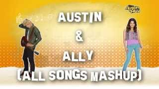 HD| Austin & Ally - Glee MASHUP! LYRICS (hq music)