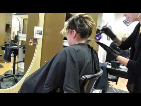 Hair Transformation// Purple Ombre