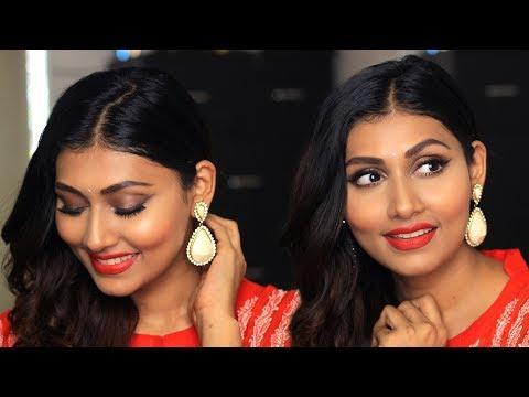 GLAM INDIAN MAKEUP LOOK | DESI LOOK FOR SPRING | Bosslady Shruti