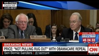 Bernie Sanders torches Tom Price for saying