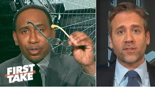 'You need glasses!' - Stephen A. offers his shades to Max during a Tom Brady debate | First Take