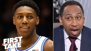 RJ Barrett 'better be a perennial All-Star' if he's drafted by the Knicks - Stephen A. | First Take
