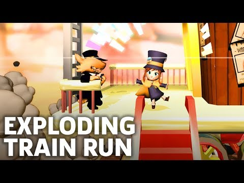 A Hat In Time Gameplay - Escaping The Exploding Train