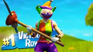 The New CLOWN Skin Gameplay in Fortnite..