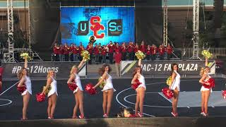 USC Song Girls at PAC-12 Tournament Fan Fest 3/8/2018