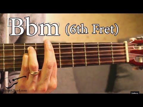 Bbm Chord On Guitar 6th Fret Youtube
