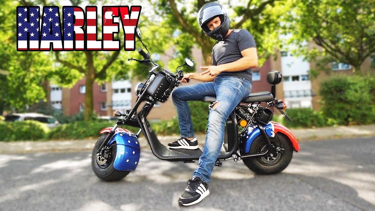 die g nstigeste elektro harley eflux harley two scooter review test deutsch german youtube. Black Bedroom Furniture Sets. Home Design Ideas