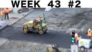 "Road roller and hot asphalt: ""raw"" construction footage #2 from Week 43"